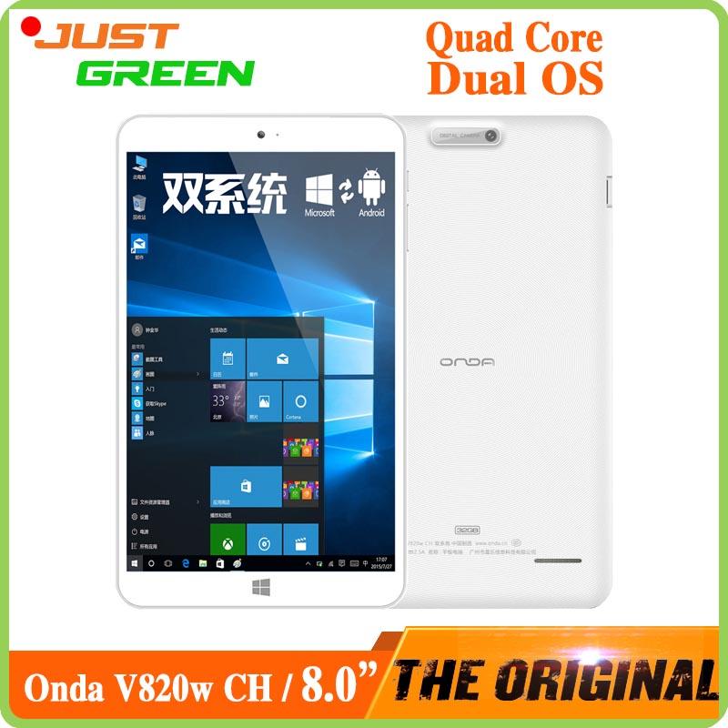 Onda V820w CH двойной загрузки планшет PC 8 дюймов 1280 * 800 в тель атом X5 Z8300 четырехъядерных процессоров 2 ГБ оперативной памяти 32 ГБ ROM 2MP камеры Android 5.1 и Win10