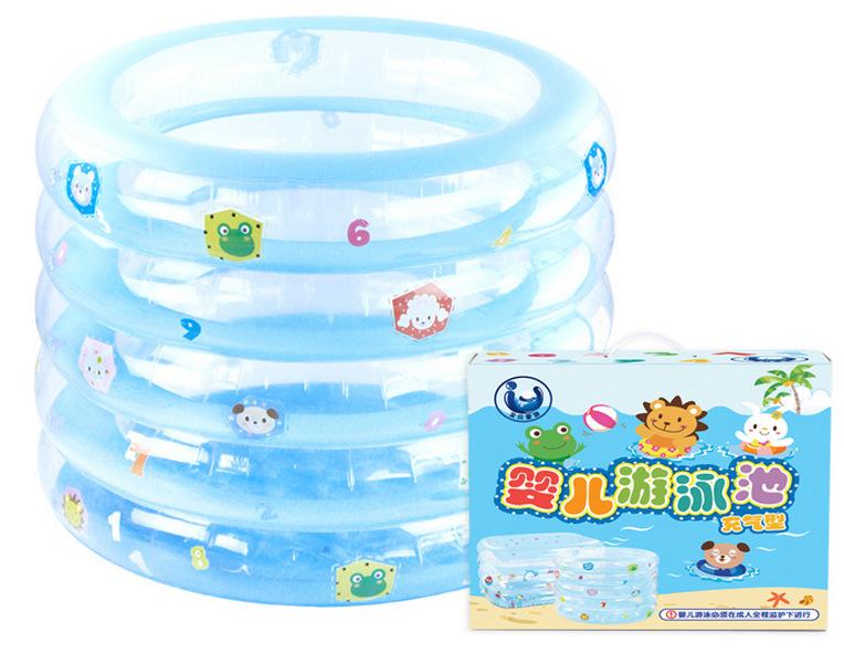 2016 Hot Sale kid bathtub baby swimming pool with gift cartoon inflatable mattress pvc swimming pool free shipping(China (Mainland))