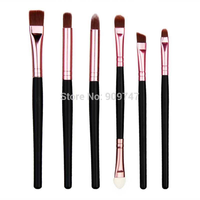 New 6 PCS Makeup Brushes Set Eye brushes set eyeliner eye shadow eyeshadow Mascara Blending Pencil Brush Make up Brushes(China (Mainland))