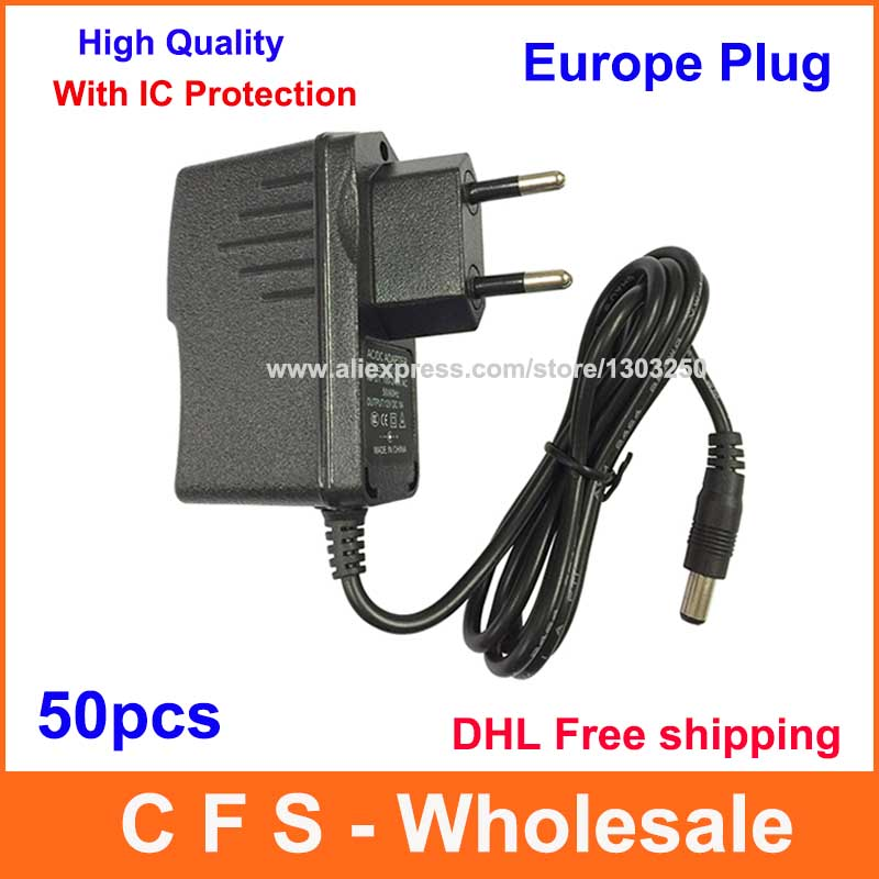 50pcs AC Converter Adapter DC 5V 1.5A / 5V 2A / 9V 1A / 12V 500mA / 12V 1A Power Supply DHL Free shipping With IC Program(China (Mainland))