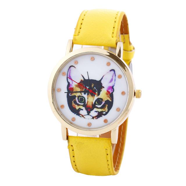 Women's Cat Print Watches