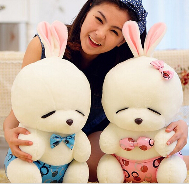 Free shipping(1piece/bag) new 100% cotton kids toy 60cm Mashimaro rabbit plush doll(China (Mainland))