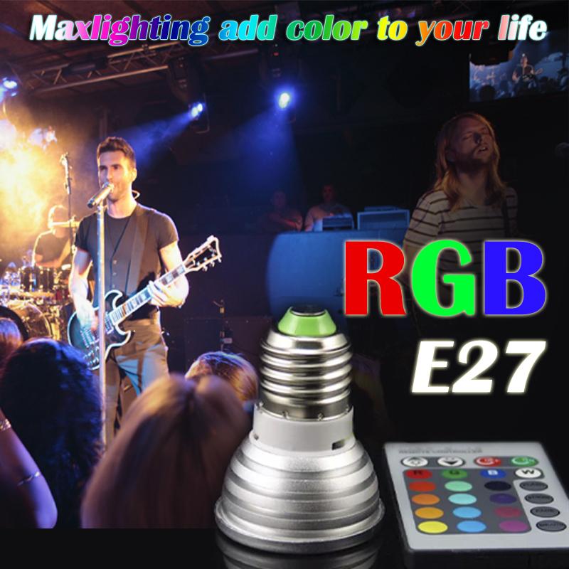 LED Bulb E27 RGB Stage 16 Colorful Change Lamp spotlight 110v 127V 220v Home Party Wedding with IR Remote(China (Mainland))