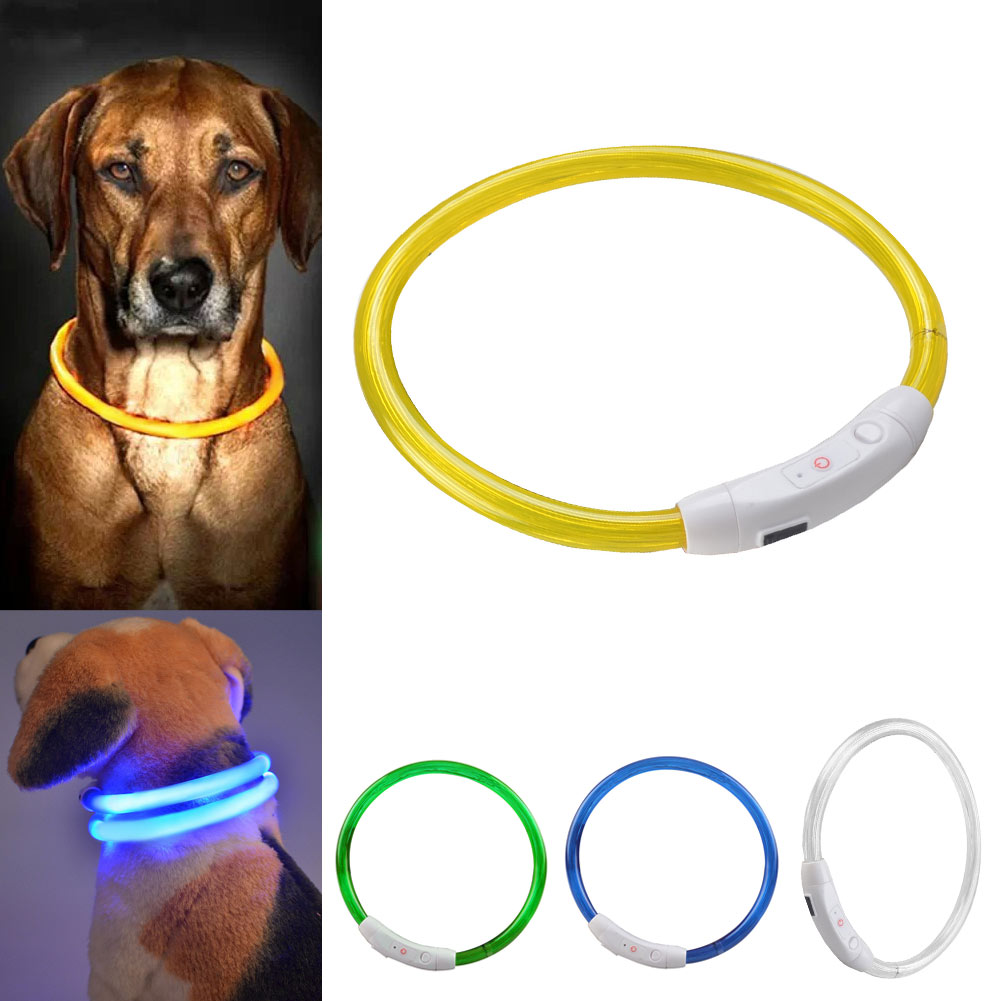 Outdoor Dog Collars USB luminous pet collar led light USB charging Cat dog collar Night Flashing Light Collar Pet supplies(China (Mainland))