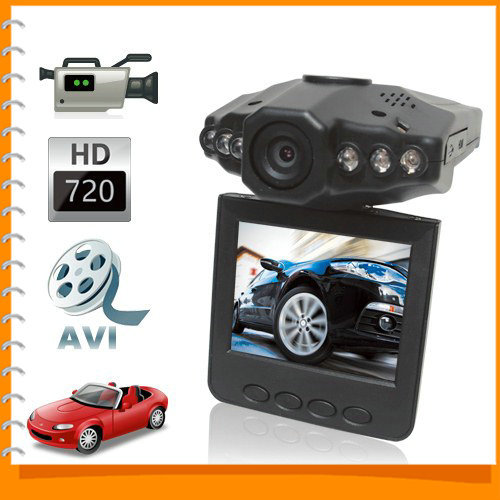 Sale! 720P HD Night Vision Mini Auto Car DVR Camera Video Recorder Vehicle Car Black Box + 2.5 Inch TFT Rotatable LCD Screen(China (Mainland))