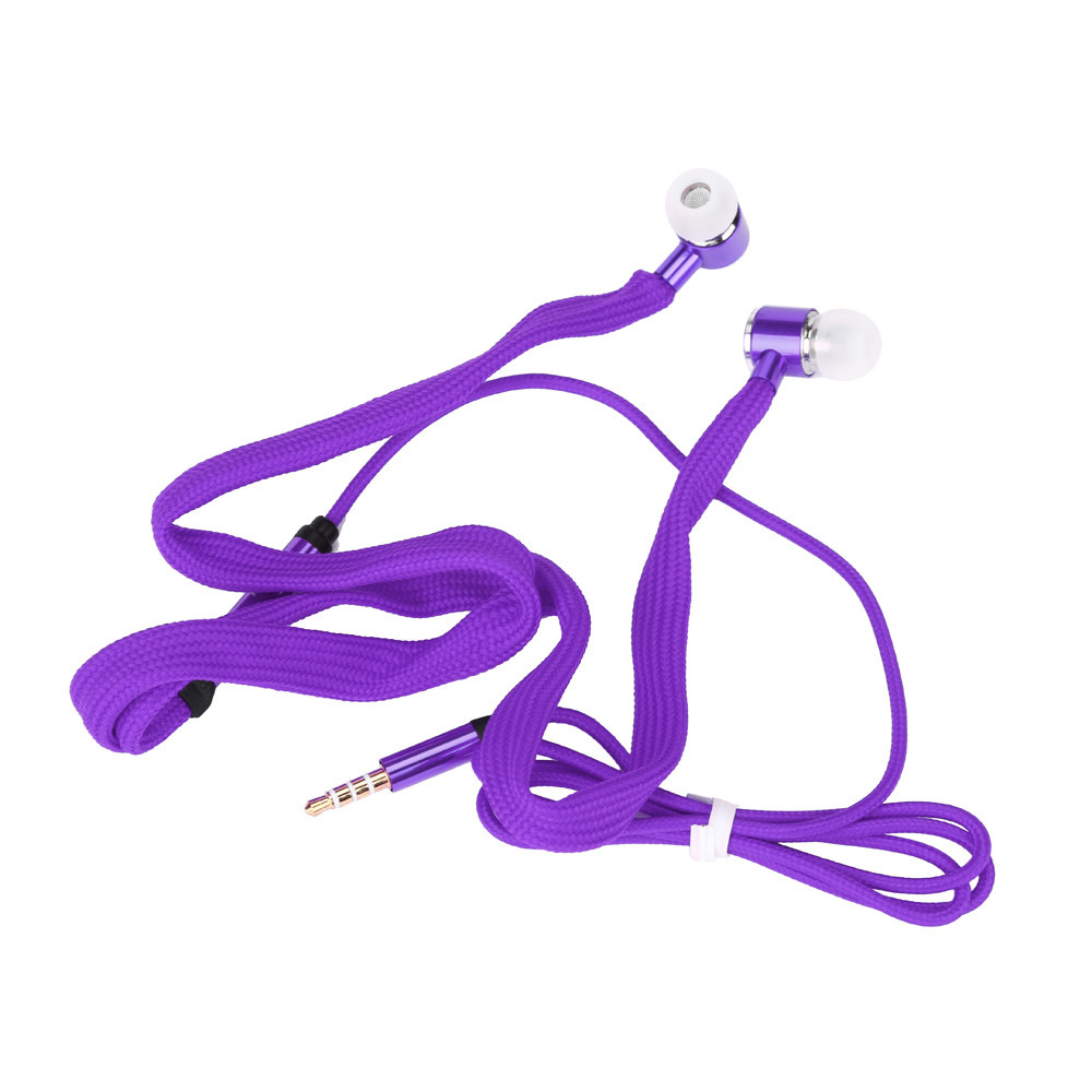 Hot selling Gifts Universal 3.5mm Shoelace Stereo Handfree Headphone Earphone Headset With Mic High Quality
