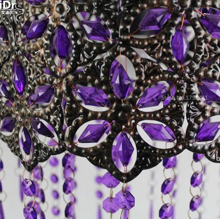 Купить Фиолетовый Акриловый камень пастырской спальня лампа ресторан огни ламп освещения лампы детская комната Подвесные Светильники wwy-0411