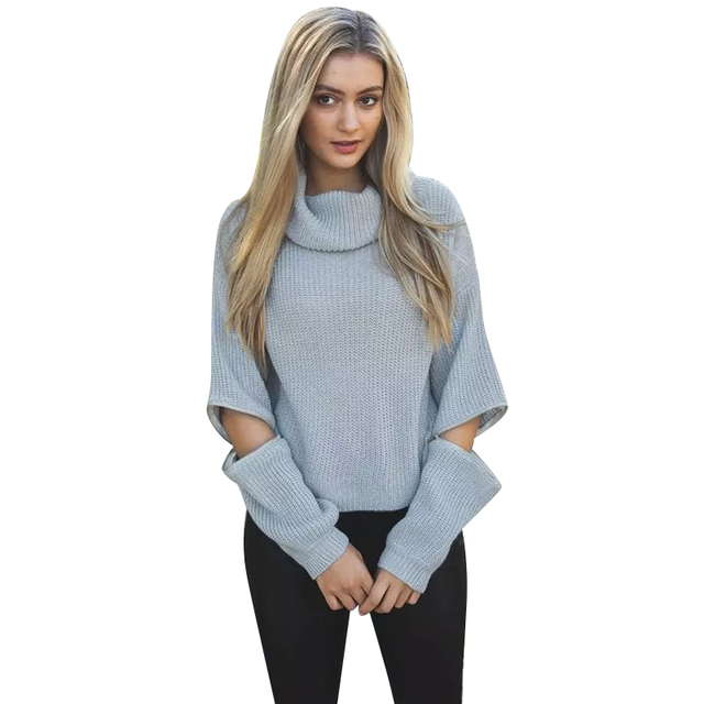 LF169 Вязание Водолазка Свитера для женщин Американской моды пуловеры повседневная ...