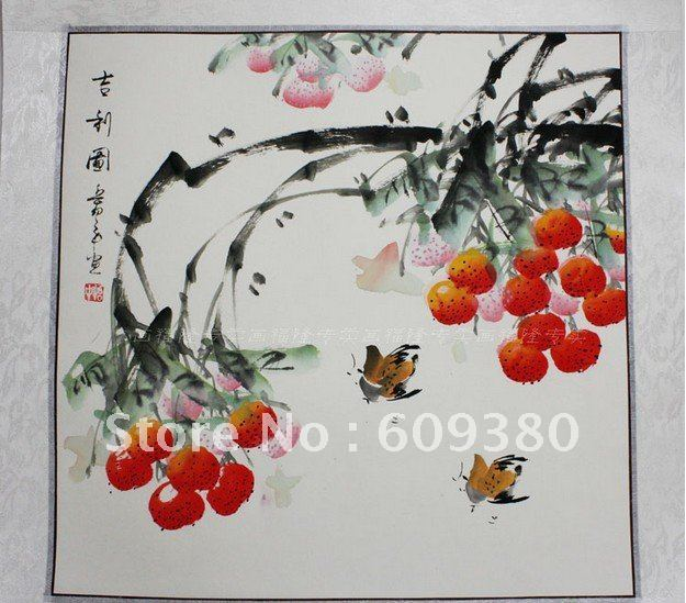 Wholesale - Chinese Sroll Painting Free shipping, Chinese flower & bird painting, free shipping