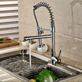 Wholesale And Retail Single Lever Spring Pull Down Kitchen Sink Faucet Dual Sprayer Hot And Cold