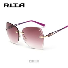 Buy RITA Rimless Female Sunglasses Brand Design Crystal Hollow Frame Luxury Shades CS932 Women Vintage Rose Sun Glasses oculos de for $10.49 in AliExpress store