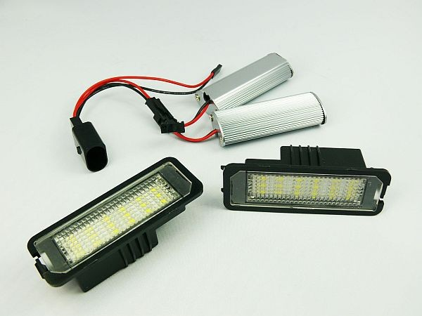 2Pcs XENON MATCH LED NUMBER PLATE LICENSE PANEL MODULE LAMP fit for VW Golf 7 MK7 VII 2013 -(China (Mainland))
