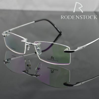 New 2015 Original Frame RODENSTOCK r6054b Fashion 100% Titanium Eyeglasses Optical Frame Rimless Eyeglasses Frame Accessories(China (Mainland))