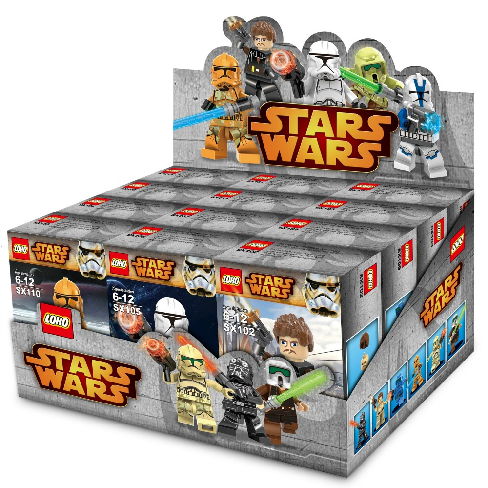 12pcs/lot Star Wars Minifigures with card and accessories wepons Building Blocks toy Bricks Toys compatible with legoe(China (Mainland))
