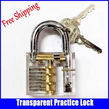 Transparent Cutaway Inside View Of Practice Padlocks Lock Trainer Skill locksmith supplies with 2keys