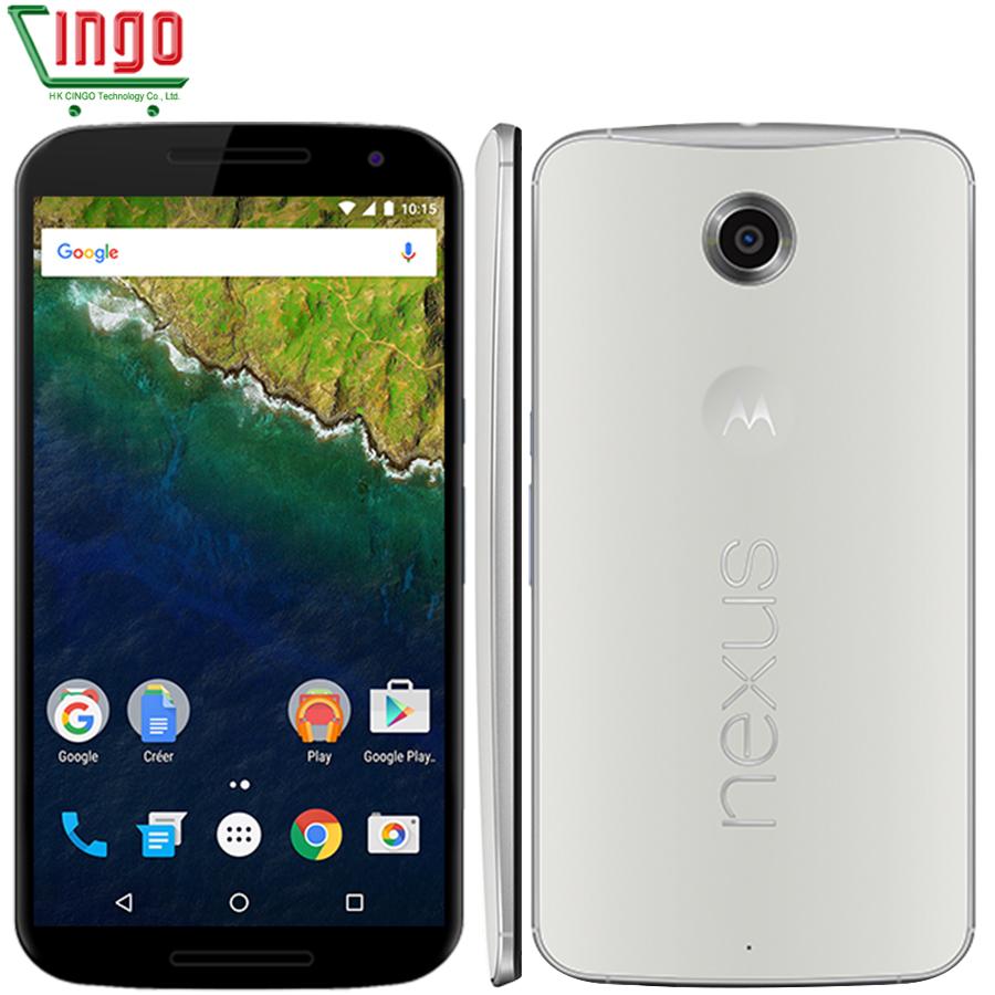 "Original Motorola Google Nexus 6 XT1103/XT1100 Quad Core 5.96"" 3220mAh 3GB RAM 32/64GB ROM 4G LTE Dual SIM WIFI Cell Phone(China (Mainland))"