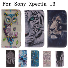 Buy Flip Bags phone case PU Leather Cover Protector Skin +Stand & Card Holder Sony Xperia T3 M50W D5102 D5103 D5106 LH for $3.97 in AliExpress store
