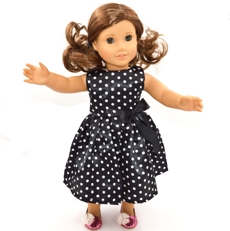 "American girl doll accessories ,18"" American girl doll clothes/dresses ,Black Senior dresses,free shipping(China (Mainland))"