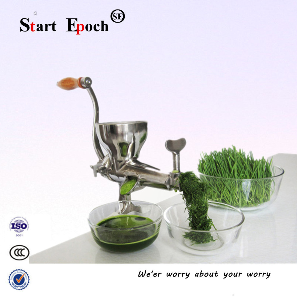 Household stainless steel manual wheat grass juicer Manual Juicer Machine  hand fruit barley juicer rapeZZJ-06