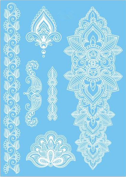 blue henna patterns. Black Bedroom Furniture Sets. Home Design Ideas