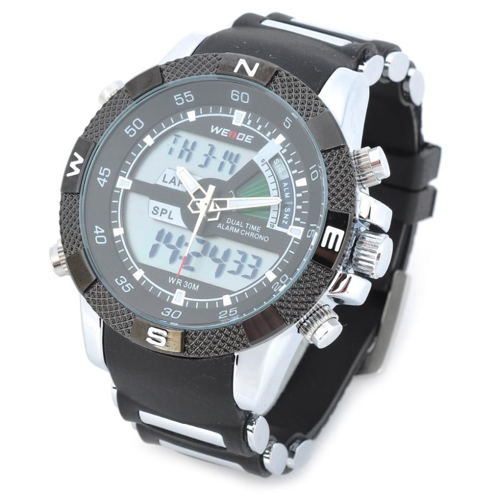 weide wh1104pu bw s resin band quartz digital analog