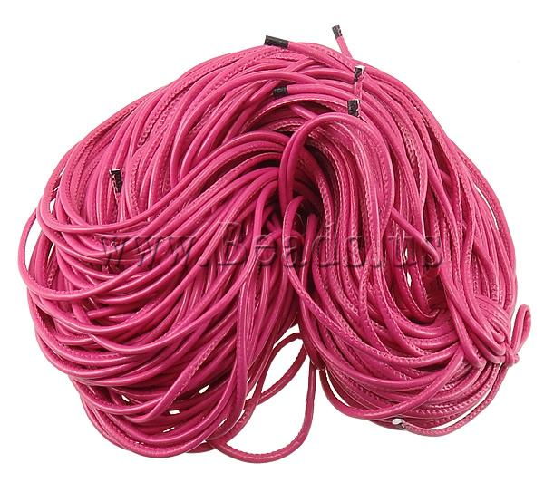 Free shipping!!!Leather Cord,Beautiful Jewelry, PU, fuchsia, 5mm, 100m/Lot, Sold By Lot<br><br>Aliexpress