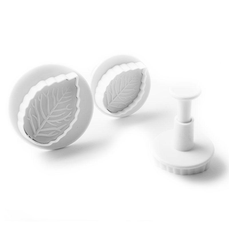 Гаджет  Rose Leaf Plunger Cutter Mold Fondant Cake Decorating Kitchen Tool 3pcs /set None Дом и Сад