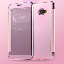 2016 New Electroplating Mirror Case Samsung Galaxy C5 C5000 5.2 inch Luxury Fashion Phone Cover Gold Silver Colors - SuperDeal Mall store