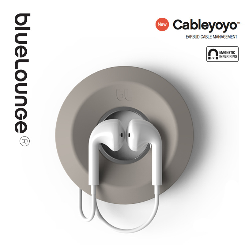 Bluelounge Cableyoyo Cable Tidy Magnetic Storage Box Doughnut Cable Line Protecter Holder Cable Earphone Organizer Free Shipping(China (Mainland))
