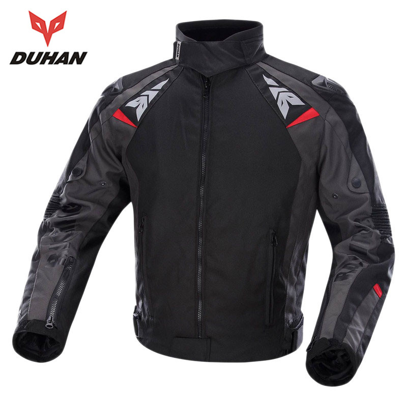 DUHAN Men's Oxford Cloth Motorcycle Racing Jacket Motocross Alloy Shoulder Protector Jaqueta Windproof Body Protective Clothing(China (Mainland))