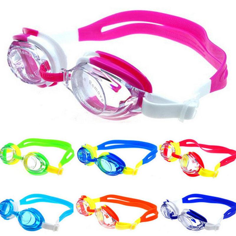 Colorful Adjustable Children Kids Waterproof Silicone Anti Fog UV Shield Swimming Glasses Goggles Eyewear Eyeglasses with Box(China (Mainland))