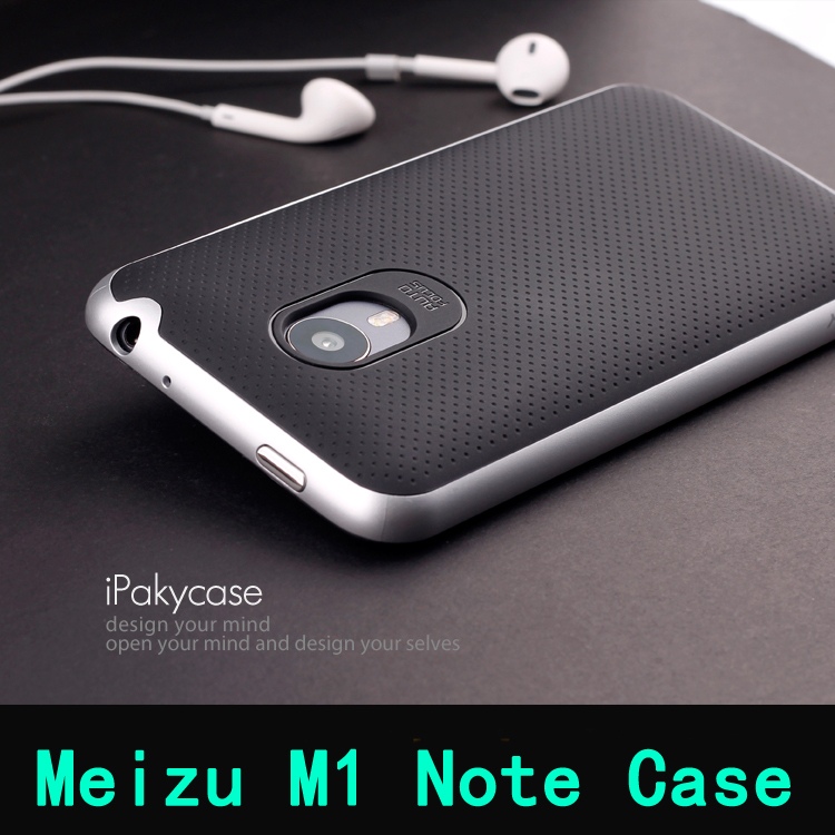 2015 New arrvial Meizu m1 note case 5.5 inch high quality PC+TPU material luxury mobile phone back cover for Meizu meilan note(China (Mainland))