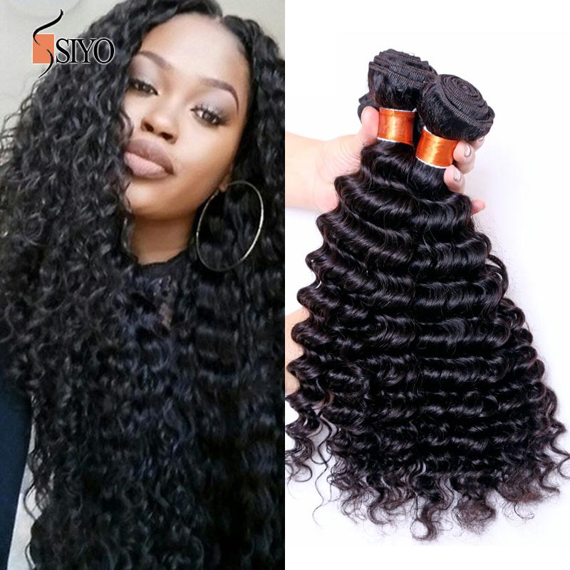 Здесь можно купить  Brazilian Deep Wave Virgin Hair 100 % Human Hair Bundles 6A Unprocessed Virgin Hair Brazilian Virgin Hair 3 Bundles Deep wave   Волосы и аксессуары