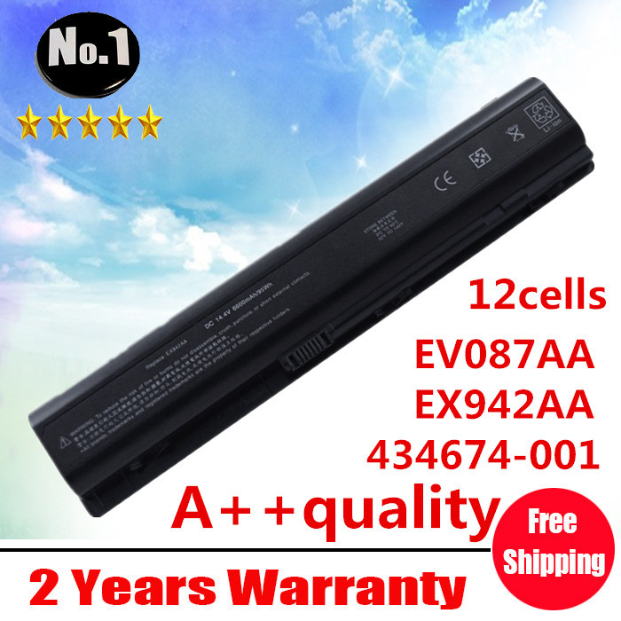 Wholesale New 12 cells laptop battery FOR HP Pavilion dv9000 ~~9900 Series EX942AA HSTNN-Q21C EV087AA HSTNN-IB34 free shipping(China (Mainland))