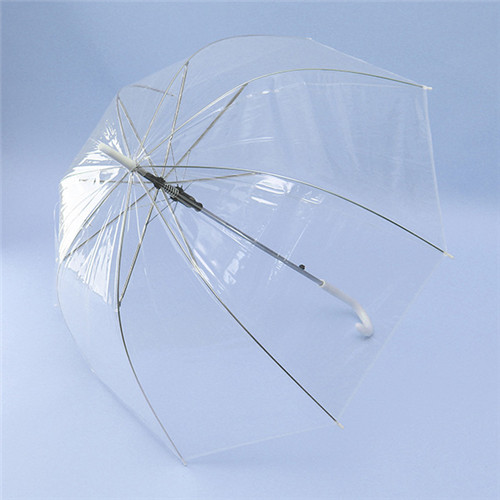 Гаджет  2014 New Retail 1Pcs Long Handle Color Transparent Umbrella Rain Women Semi-automatic Umbrellas None Дом и Сад