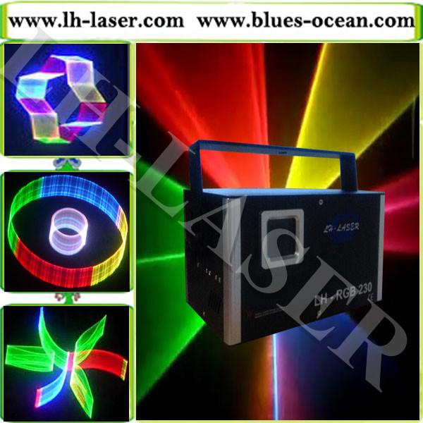 LH-RGB230 1.2W RGB full color Animation 3D laser light/dj light effects/disco light karaoke system(China (Mainland))