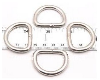 wholesale by 500PCS/20KGS/Carton M6X50X47 forged and welded AISI 316 stainless steel d ring(China (Mainland))