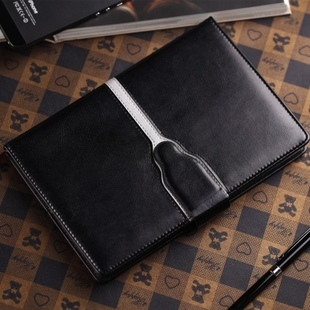 Free shipping Stationery commercial notepad leather black leather diary notebook stationery