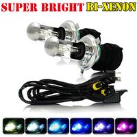 2X Xenon 35W H4 12V DC Bi HID Automotive Headlight Replacement Bulbs H4-3 BiXenon Hi/Lo Beam Lamp 4300/6000/8000K High quality