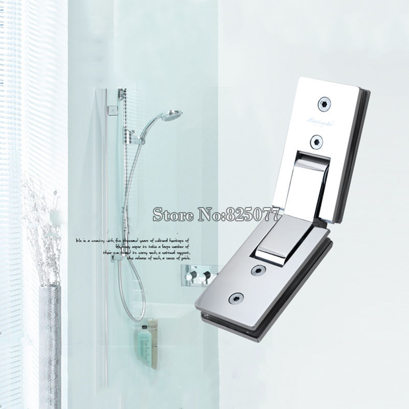 1PCS Shower room rectangle 135 degree mirror glass hinge square stainless steel bathroom shower hinge clip HM17(China (Mainland))