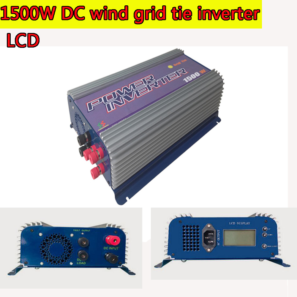 1500W Grid Tie Inverter 110V or 220V Output LCD DC Wind Turbine Grid Tie Inverter 45-90V DC Input MPPT Pure Sine Wave Inverter(China (Mainland))