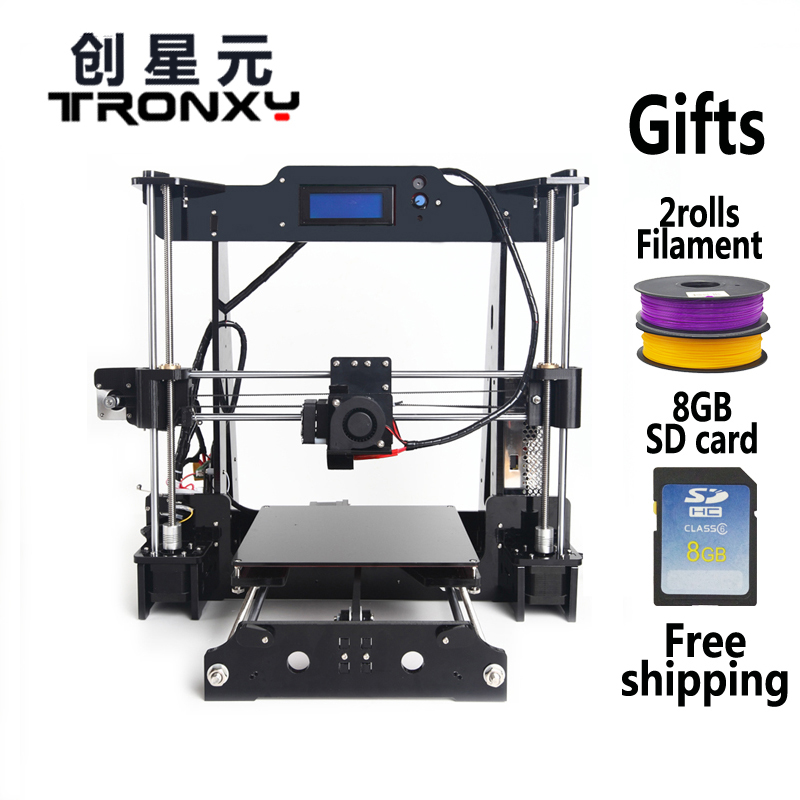 2016 newest Mega 2560 Prusa i3 3d Printer DIY kit T818 High Precision Reprap Big print size 220*220*240mm(China (Mainland))