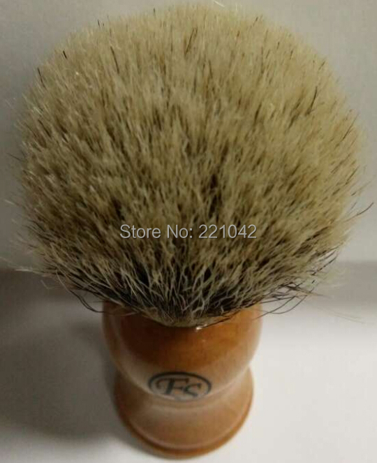 Frank shaving FS 100% Silvertip Badger Hair Shaving Brush Beech Wood Handle + Free Stand men's gift
