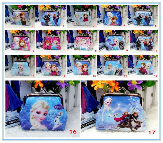 1 шт. монеты кошельки эльза анна олаф рейна де ниив портмоне девушки снежная королева Elsa бумажник дети эльза анна ну вечеринку 17 стилей