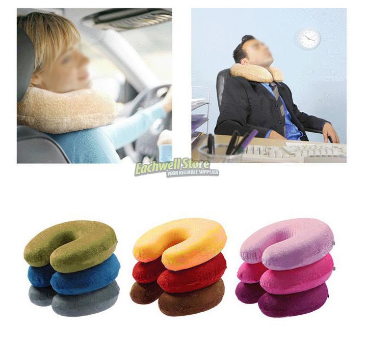 Memory Foam Travel Cervical Neck Pillow U Shape Car Auto Bus Train Airplane Neck Pillow Reading Pillow(China (Mainland))