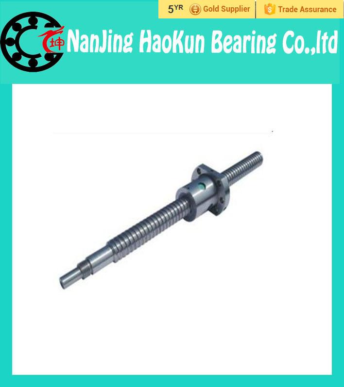 Фотография NEW CNC Rolled Ballscrew 1610 -L 800mm DFU1610 ball screw with Double ballnut