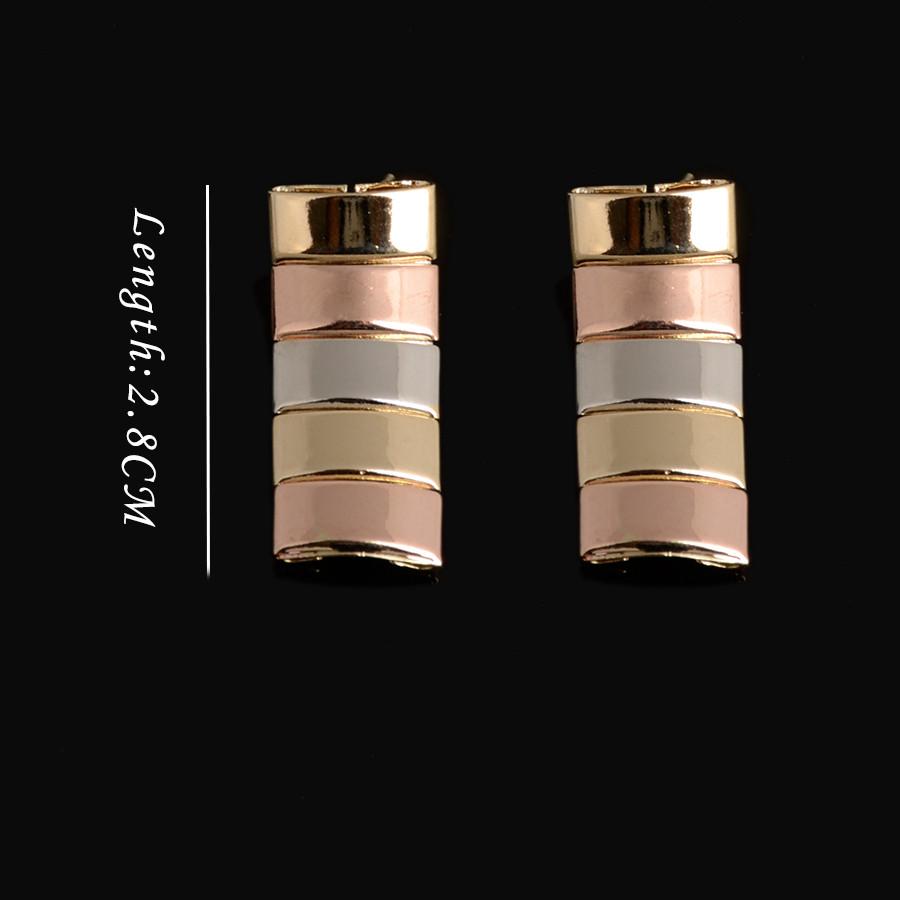Подвески Три Тон Комплект Ювелирных Изделий Высокого Качества Дубай Real Gold позолоченные Серьги Браслет Ожерелье Набор Для Женщин Мода 18 К Щепка роза