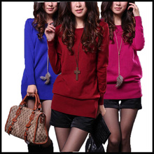 2015 women's new  fashion style  slim sweater  sexy colorful pullover of 8 colors  winter dress autumn knitwear free shipping 18(China (Mainland))