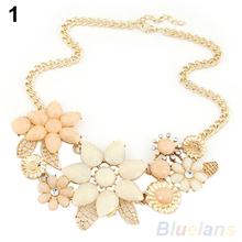 Fashion Women s Resin Flower Choker Bib Statement Necklace Collar Chain Pendant 01TB 4BFR