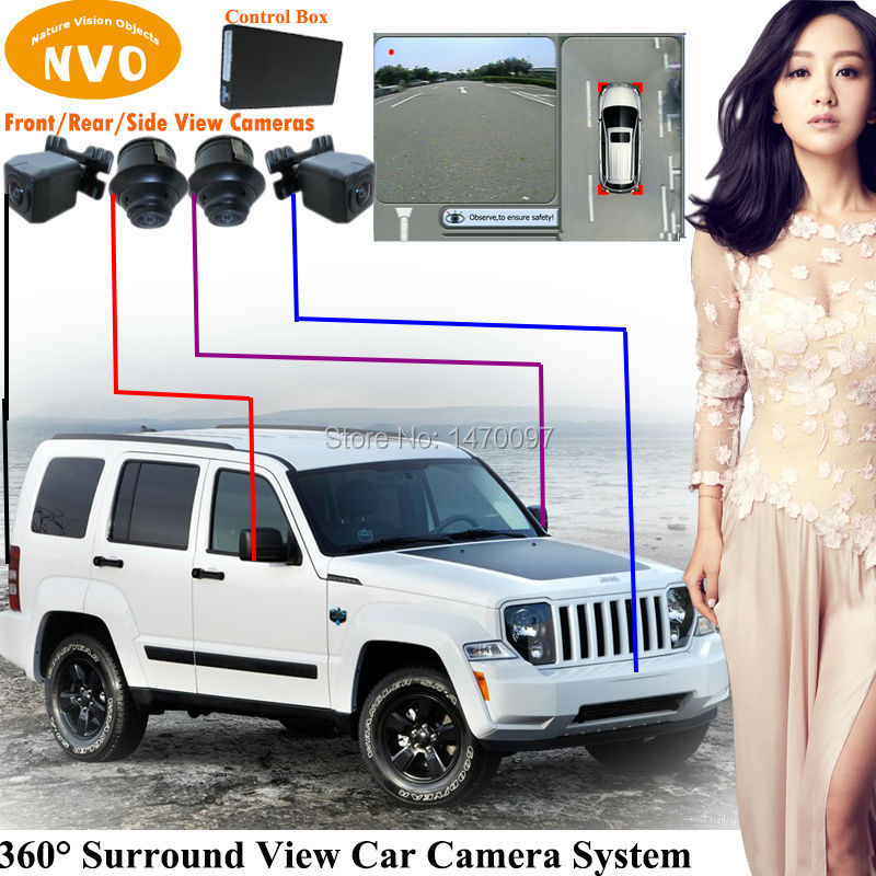 360-degree Surround View Rear View Reverse Backup Camera System With Car Recording Camera Function For Jeep Liberty(China (Mainland))